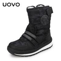 UOVO冬季新款童靴女童短靴儿童雪地棉靴加绒加厚男童靴子 塞纳格