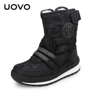 【每满100立减50】 UOVO冬季新款童靴女童短靴儿童雪地棉靴加绒加厚男童靴子 塞纳格