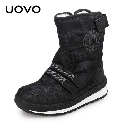 UOVO冬季新款童靴女童短靴儿童雪地棉靴加绒加厚男童靴子 塞纳格【每满100立减50 上不封顶 支持礼品卡】