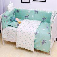 婴儿床围防撞加厚六件套宝宝床上用品床床品套件可拆洗冬