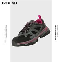 【新款专享3.8折】探路者徒步鞋 秋冬新款户外女式雪豹仿生大底徒步鞋TFAI92254