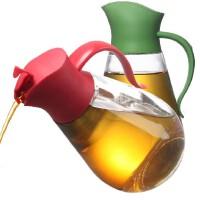 包邮!明高 玻璃油壶 自开盖油瓶 550ML 玻璃防漏酱油壶 防尘醋瓶 创意油壶