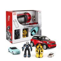 星辉5合1玩具汽车组合遥控汽车手动变形车机器人模型圣诞儿童玩具 五合一互动套装【彩盒装 *优选】 官方标配
