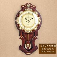 大号欧式挂钟客厅钟表意钟表复古摆钟豪华墙壁钟16寸春节礼物情人节礼物