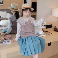 女童衬衫儿童衬衣时髦娃娃领上衣