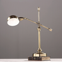 创意设计师美式北欧台灯现代简约金属电镀样板房书房灯具软装配饰