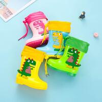 宝宝雨靴水鞋儿童雨鞋雨衣防滑男童婴幼儿女童