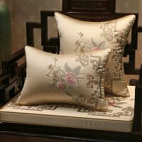 红木沙发坐垫新中式古典实木家具圈椅垫靠垫防滑罗汉床座垫套定制