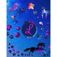 【预订】Starry Unicorns Notebook Monogram Series L: College Rule