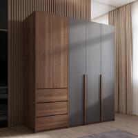 北欧衣柜现代简约家用卧室衣柜子出租房二门三门组装实木质大衣橱