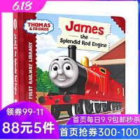 英文原版绘本 小火车托马斯和他的朋友们 Thomas & Friends James the splendid red