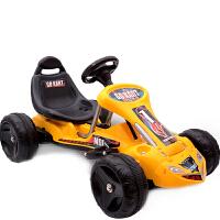 儿童电动车四轮卡丁车可坐宝宝遥控玩具汽车小孩电瓶沙滩摩托童车 柠檬黄 遥控+自驾【环保塑料轮】