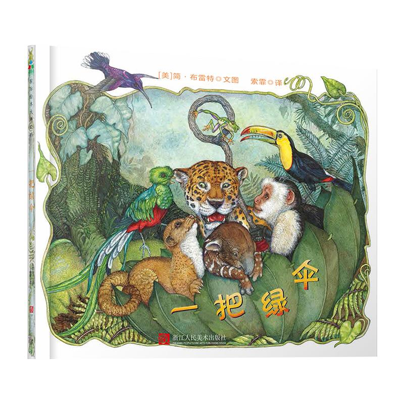 森林鱼童书:一把绿伞 奇妙的自然探险,一场欢快的色彩大魔法,意想不到的幽默