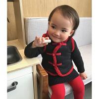 婴童装中国风女童宝宝唐装保暖加绒背心小马甲冬男 新年装