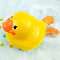 儿童宝宝电动喷水小船章鱼洗澡戏水玩具儿童漂浮大黄鸭戏水男孩女孩转转乐玩具 感应游水大黄鸭 收藏送电池螺丝刀