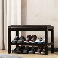 简易换鞋凳鞋柜储物凳实木鞋架进门穿鞋凳门口收纳沙发