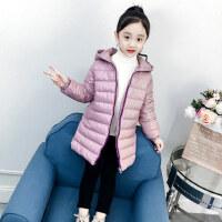 女童棉衣冬装2018新款儿童中长款轻薄棉服中大童秋冬洋气外套棉袄