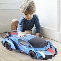 遥控变形车感应变形汽车金刚无线遥控车机器人充电动男孩儿童玩具