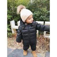 婴童装冬装女童宝宝羽绒服套装男婴儿加厚保暖羽绒裤两件套