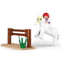 快乐小鲁班拼装积木儿童拼插塑料玩具训练模型女孩6岁以上抖音