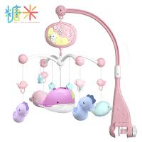 新生婴幼儿早教玩具益智遥控音乐投影床铃旋转床头铃0-3-6-9个月男女孩礼物