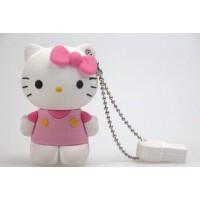低价包邮 日照鑫  可爱个性软胶hello kitty KT猫卡通创意时尚 U盘 8G /16G(一个装)