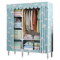 简易衣柜现代简约布衣柜出租房用钢管加粗加固布艺收纳挂衣橱加厚