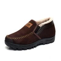 冬季男棉鞋加绒加厚保暖男靴软底中老年爸爸休闲鞋