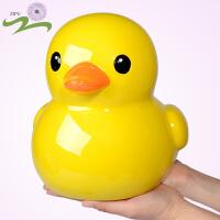 大黄鸭储蓄罐大号树脂卡通存钱罐可爱实用创意男女儿童生日礼物