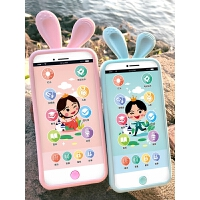 儿童早教机玩具手机早教故事机小兔子婴儿益智音乐电话充电0-3岁