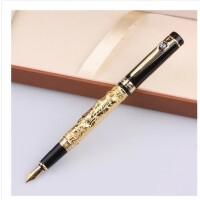 HERO 英雄 孔子金色铱金钢笔-1062