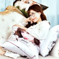来图定做人印照片抱枕头定制作情侣靠垫自定义diy生日礼物