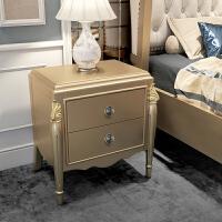 家具欧式床头柜香槟金色简约卧室收纳柜迷你储物小柜子2 香槟金床头柜 组装