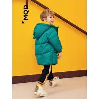 【1件3折:420】MQD小童长款羽绒服加厚男女宝宝同款90白鸭绒面包服