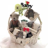 新生儿用品高档礼盒初生婴儿宝宝纯棉衣服加厚满月恐龙套装秋冬季