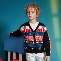 【2件3折券后�r:112】MQD童�b男童毛衣2020秋季新款�n版�_衫外套�和��M版洋�忉��衫潮