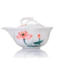 【优选】陶瓷盖碗大号泡茶杯防烫茶壶功夫茶具三才普洱泡茶碗手抓壶