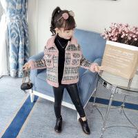 女童冬装外套加厚加绒新款中大童韩版儿童秋冬仿皮草洋气夹克