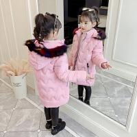 女童棉衣2018新款冬装儿童中长款加厚洋气韩版女孩棉袄外套潮