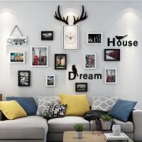 照片墙装饰相框墙自粘贴相框创意挂墙组合现代简约客厅背景墙壁画