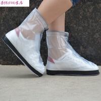 新品个性夏季下雨天防雨鞋套男女学生雨靴儿童中筒水靴防水套鞋新 XX