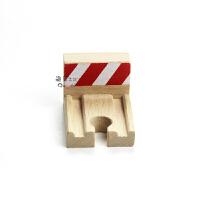 特价 木制火车轨道散件 坡度停止轨 终点站轨 儿童益智拼装玩具质 官方标配