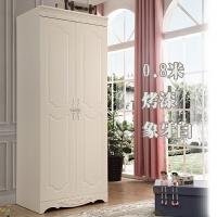 对开两门衣柜80韩式小衣柜田园0.8米简欧式单人柜2门衣柜储物 2门 组装