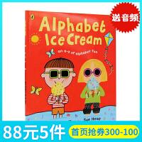 英文原版绘本 Alphabet Ice Cream A fantastic fun-filled ABC 名家Nick