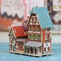 若态若来 3D立体拼图diy木质小屋模型拼装大别墅儿童手工制作
