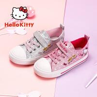 【1件3折:89.7元】hellokitty童鞋女童帆布鞋秋季新款�P蒂��和�鞋中小童布鞋K0517826