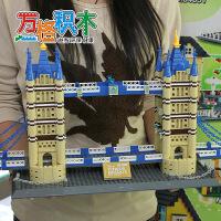 万格儿童益智拼插积木玩具 组装 世界建筑 伦敦双子桥8013