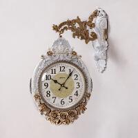 石英钟客厅双面挂钟欧式大气静音钟表创意家用大挂表时尚装饰个性