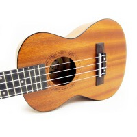 Vorson 尤克里里 23寸 乌克丽丽 ukulele 经典深黑色包边 音孔处激光雕刻 玫瑰木指板 沙比利背侧板 开放式旋扭 初学 入门 尤克里里 生日礼物  自用更加  UK-23 (*品:背包+拨片+教材)