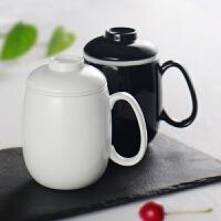 (包�])茶杯�k公室陶瓷���w�^�V泡茶杯家用水杯�R克杯杯子大容量�雅f大�